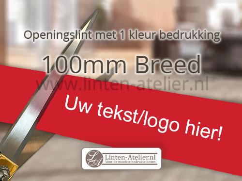 Openingslint bedrukken bij linten-atelier.nl